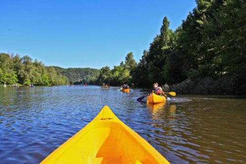 Balade en canoë sur la rivière Dordogne.